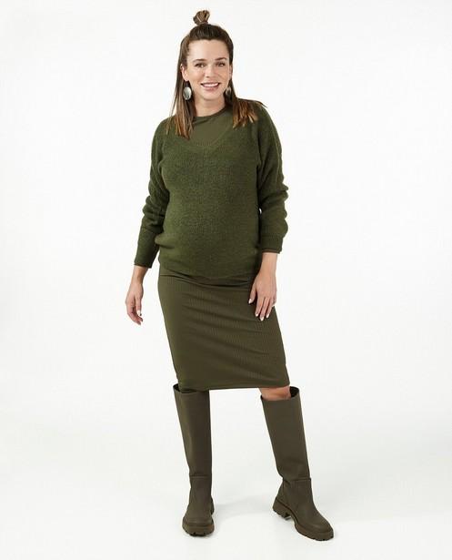Donkergroene trui JoliRonde - zwangerschap - Joli Ronde