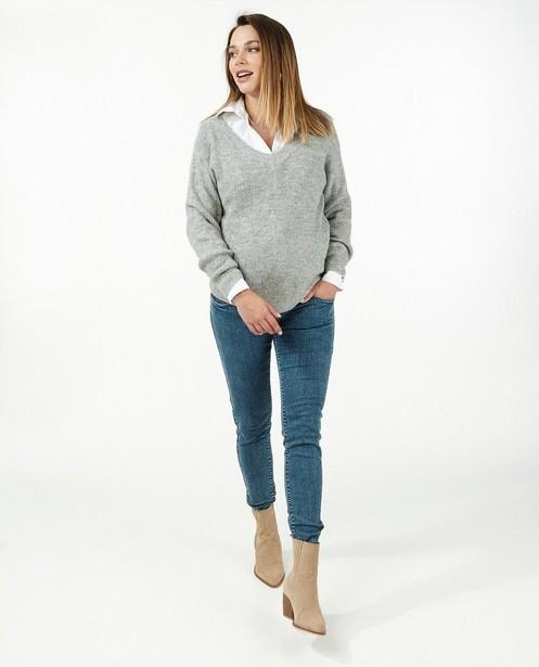 Pull gris clair JoliRonde - grossesse - Joli Ronde