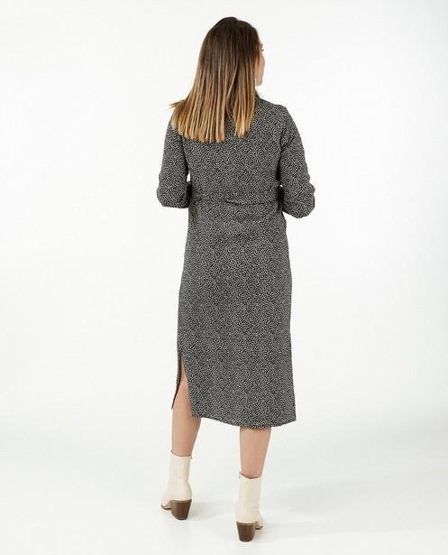 Zwarte jurk met print JoliRonde - zwangerschap - Joli Ronde