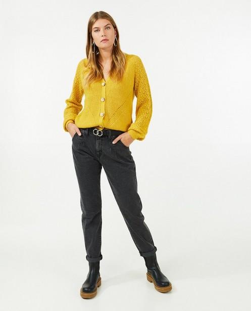 Jeans bleu à pattes d'éléphant Rani Youh! - taille haute - Sora