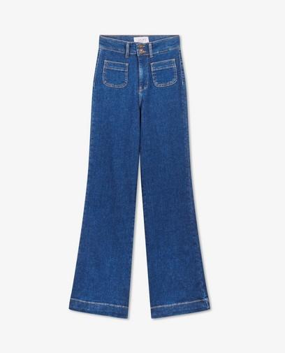 Jeans bleu à pattes d'éléphant Rani Youh!