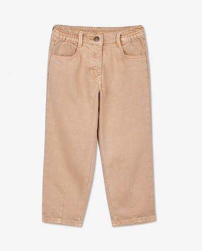 Pantalon mom beige
