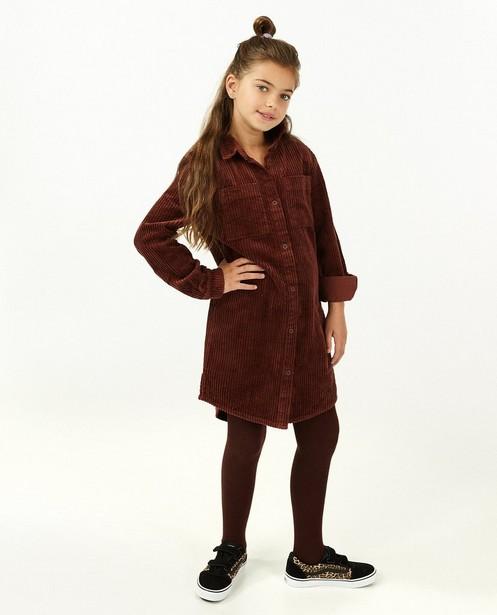 Robe brune en velours côtelé - robe chemise - Fish & Chips