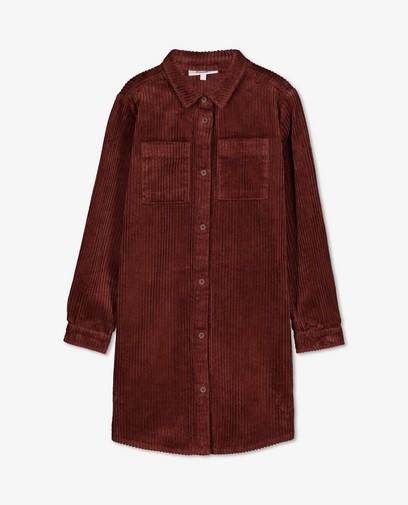 Robe brune en velours côtelé