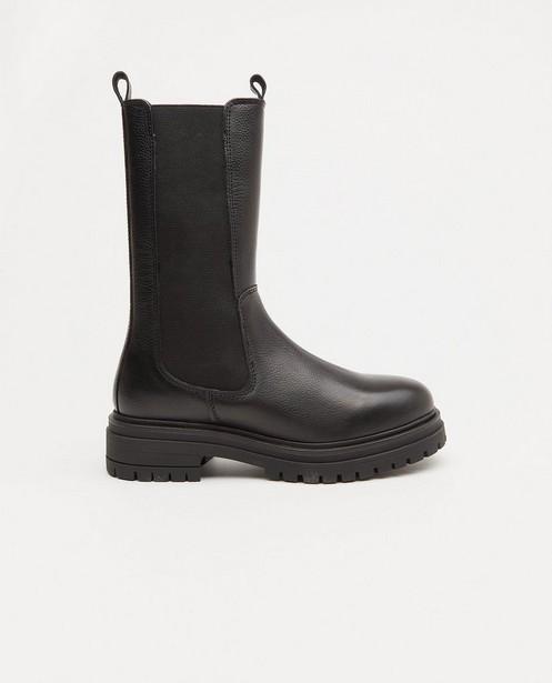 Zwarte laarzen, maat 36-41 - met elastiek - Sora