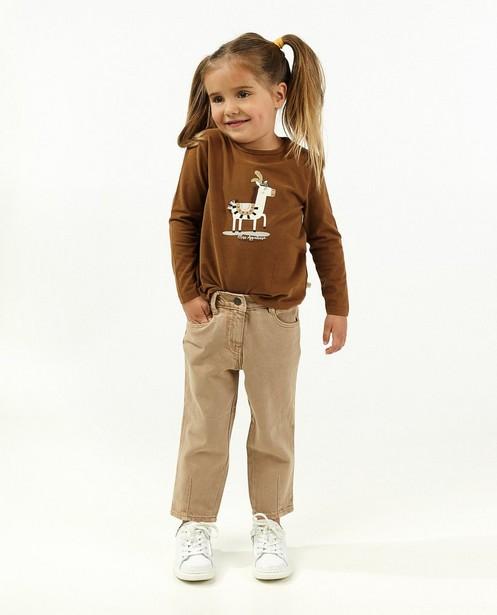 T-shirt à manches longues marron avec imprimé - d'un cheval - Milla Star