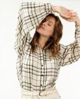 Hemden - Offwhite hemd met ruitpatroon Sora