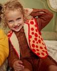 Bruine jurk met strepen fred + ginger - met patch - Fred + Ginger