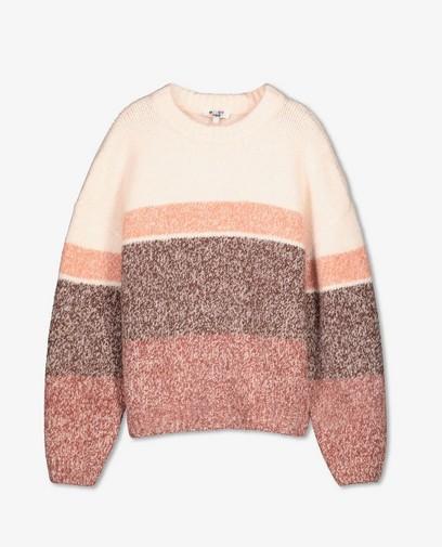 Pull en tricot ajouré avec rayures