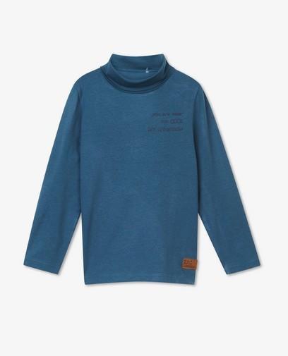 T-shirt bleu à manches longues, inscription
