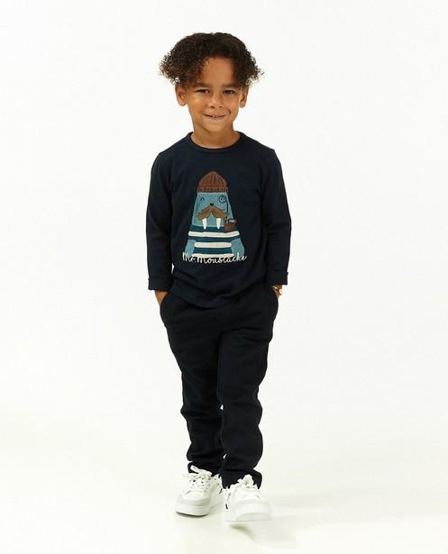 T-shirt à manches longues bleu avec imprimé - d'un morse - Kidz Nation