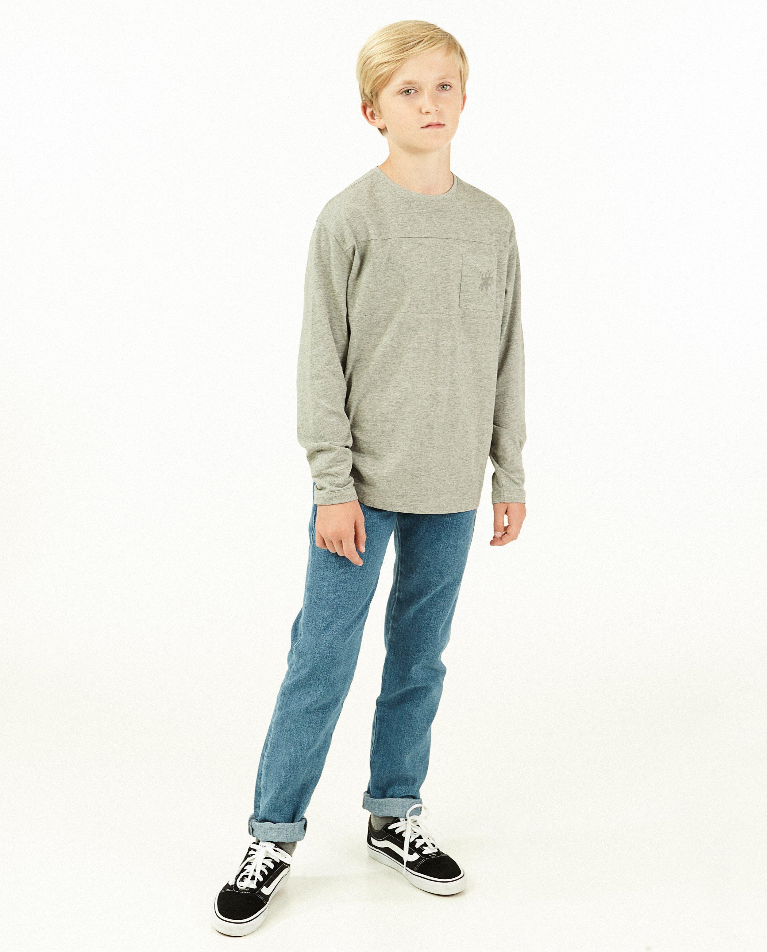 T-shirt gris à manches longues #LikeMe - chiné - Like Me