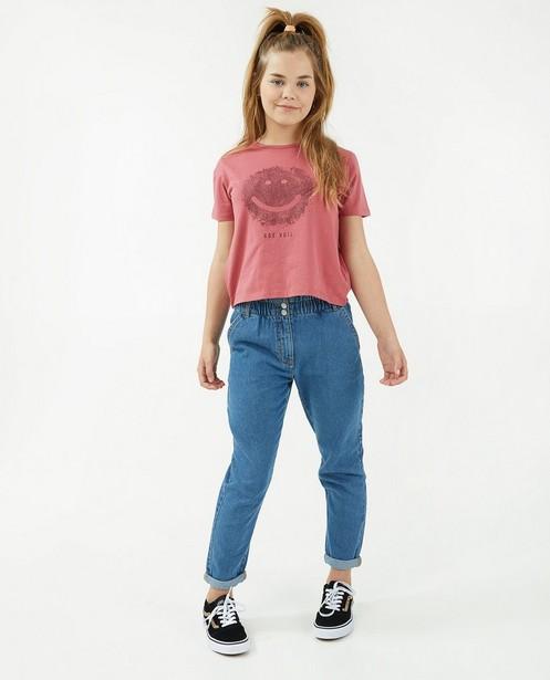 Blauwe jeans - met elastische taille - JBC