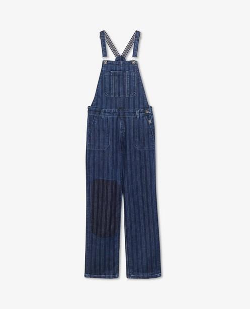 Blauwe jeanssalopette Blue Rebel - met strepen - Blue Rebel