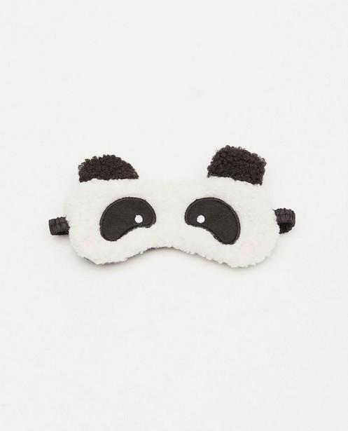 Panda-slaapmasker van teddy - in zwart en wit - JBC