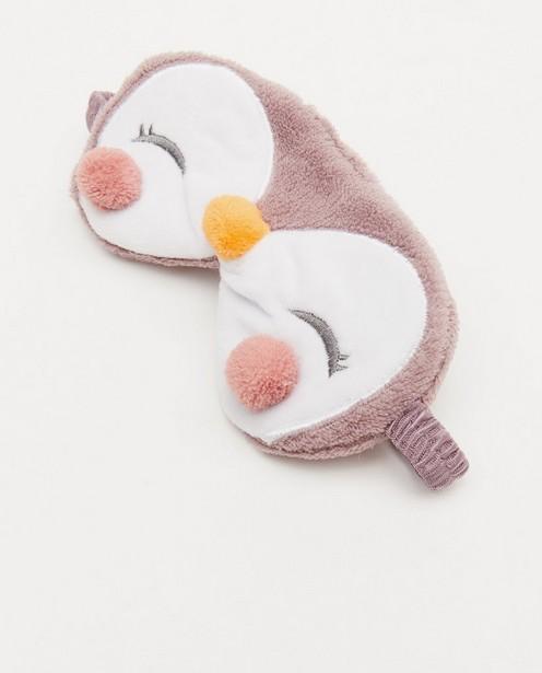 Gadgets - Masque de nuit mauve, imprimé de pingouins