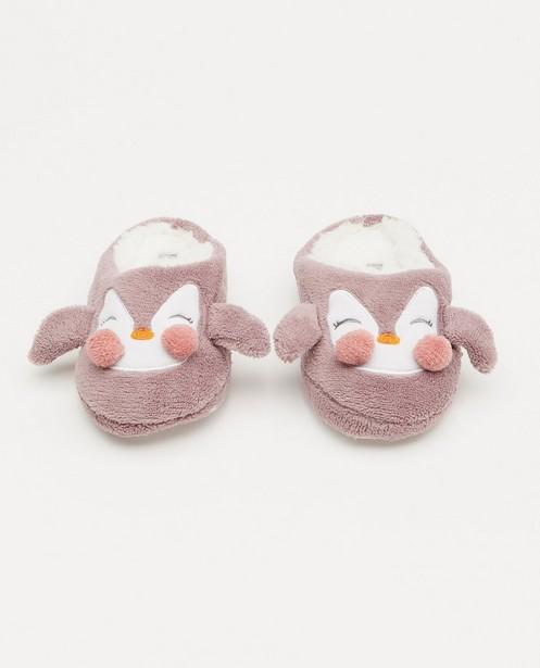 Paarse pinguïnpantoffels - slippers - JBC