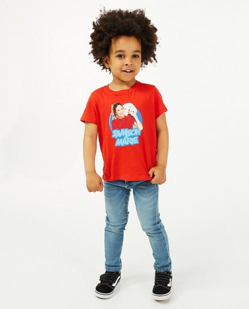 T-shirt à imprimé Samson & Marie - rouge - Fred & Samson