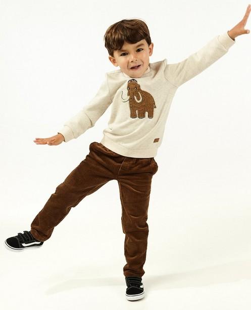 Jogger brun en velours côtelé - avec du stretch - Kidz Nation