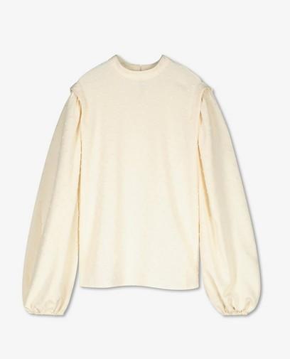Witte blouse met reliëfstipjes Youh!