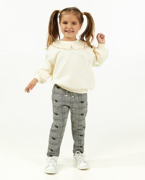 Offwhite sweater met volant - kinderen - Milla Star