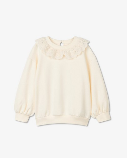 Offwhite sweater met volant