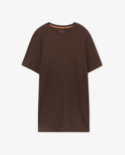 Biokatoenen T-shirt in bruin