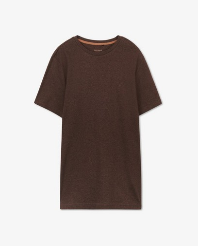 T-shirt brun en coton bio