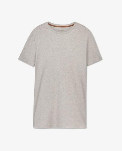 Biokatoenen T-shirt in grijs