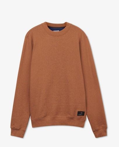 Bruine gemêleerde trui