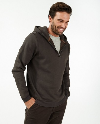 Bruine hoodie met rits