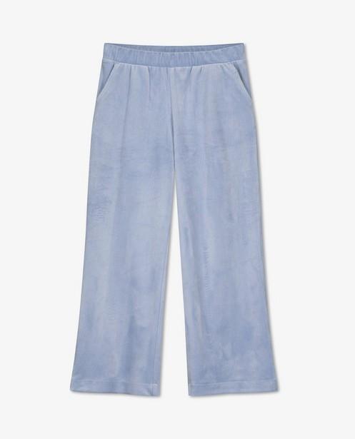 Lichtblauwe broek van ribfluweel BESTies - lang - Besties