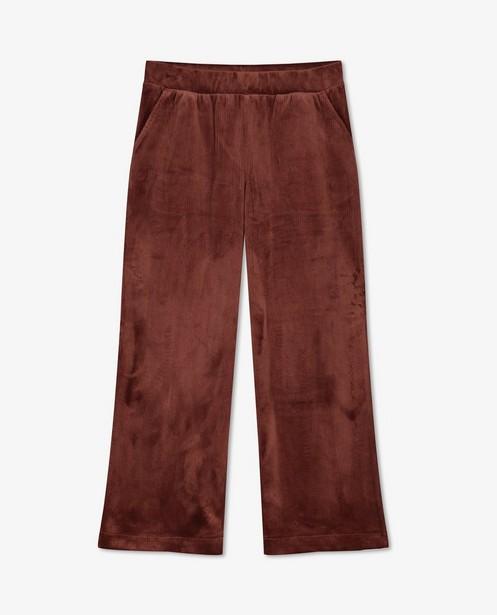 Donkerroze broek van ribfluweel BESTies - lang - Besties
