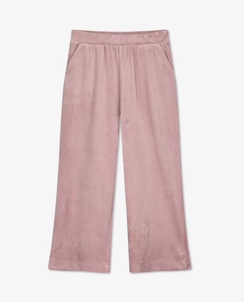 Pantalon rose en velours côtelé BESTies - long - Besties
