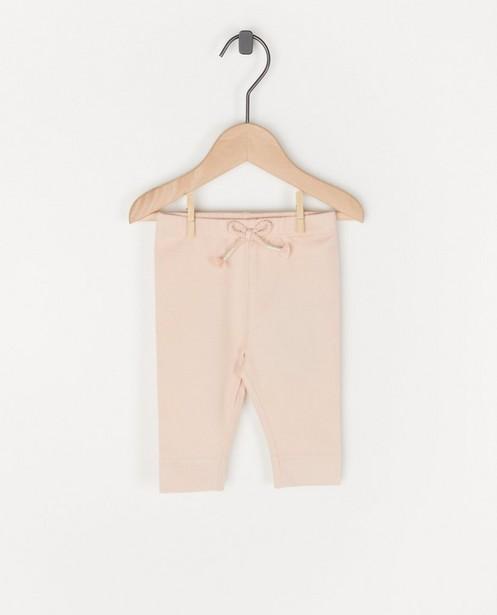 Roze legging met strikje - stretch - Newborn