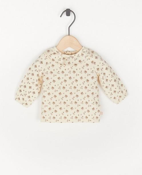 T-shirt à manches longues avec imprimé fleuri - beige - Newborn