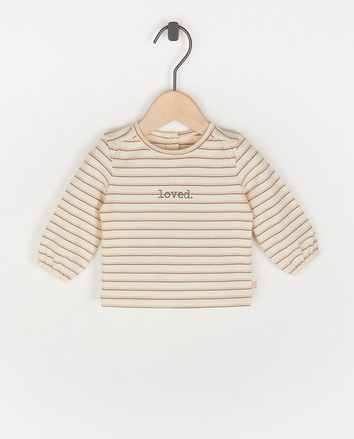 Gestreept T-shirt  - loved - Newborn