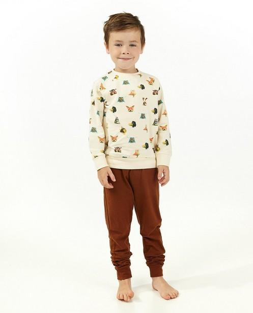 Beige-bruine pyjama de fabeltjeskrant - kinderen - Fabeltjeskrant