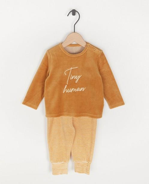 Pyjama unisexe avec une inscription - «tiny human» - Cuddles and Smiles