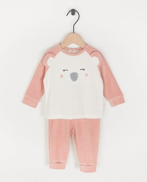 Roze pyjama met koala-print - met meegroeibroekje - Cuddles and Smiles