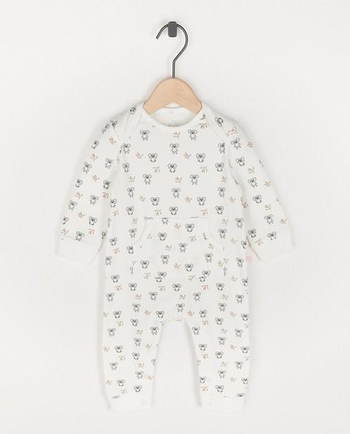 Wit pyjamaatje met koala-print - allover - Cuddles and Smiles