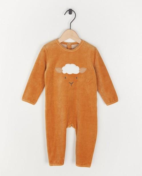 Unisex pyjama met schaapje - met of zonder voetjes - Cuddles and Smiles
