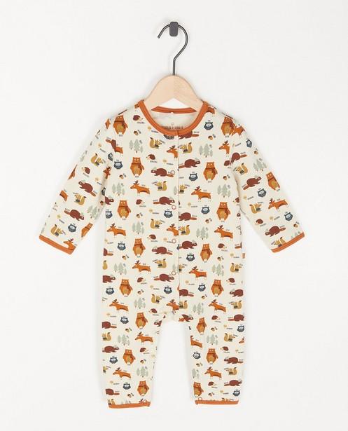 Biokatoenen unisex pyjama met print - stretch - Cuddles and Smiles