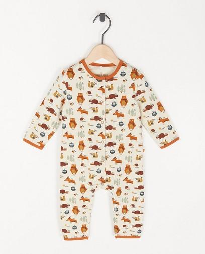 Biokatoenen unisex pyjama met print
