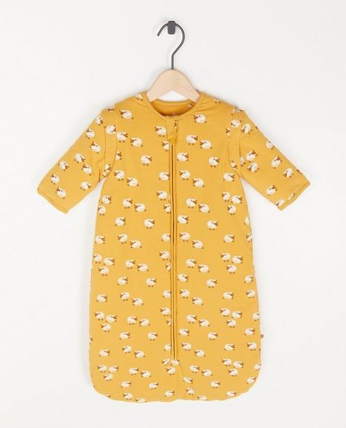 Sac de couchage jaune unisexe à imprimé à moutons - intégral - Cuddles and Smiles