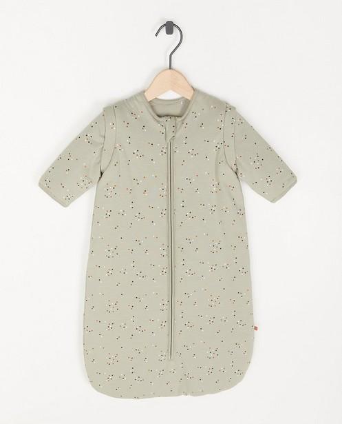 Sac de couchage gris vert unisexe à imprimé - intégral - Cuddles and Smiles