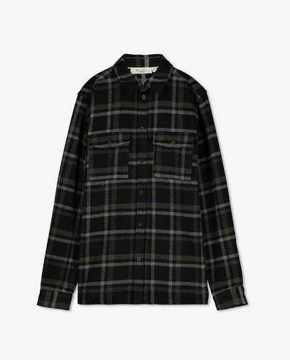 Chemise noire à carreaux