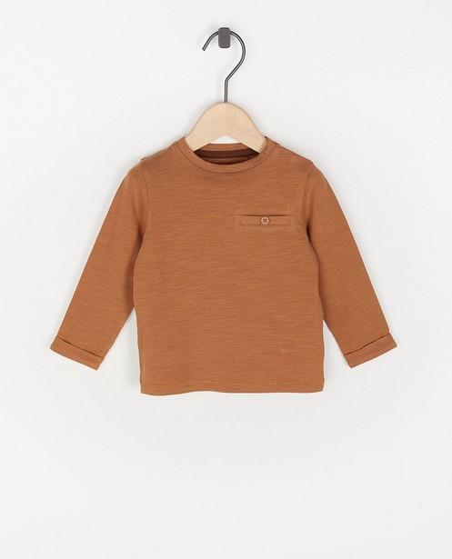 T-shirt brun à manches longues unisexe - avec du stretch - Cuddles and Smiles
