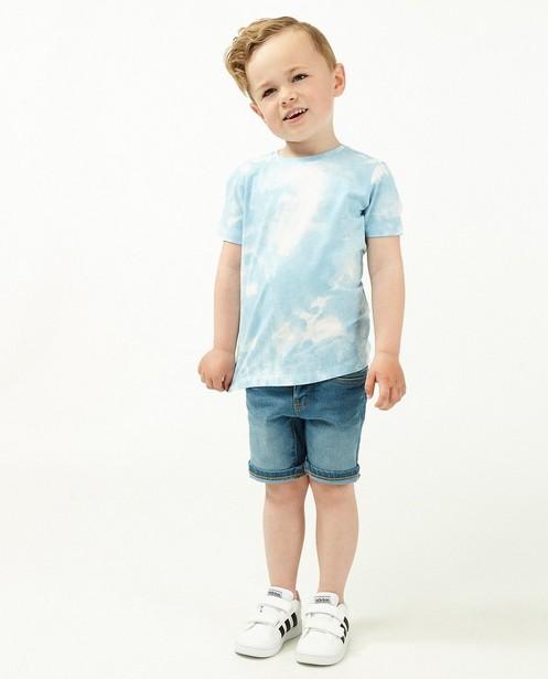 T-shirt bleu avec tie dye - et inscription - Kidz Nation