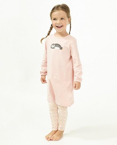 Roze pyjama met pinguïn - en visjes - Milla Star